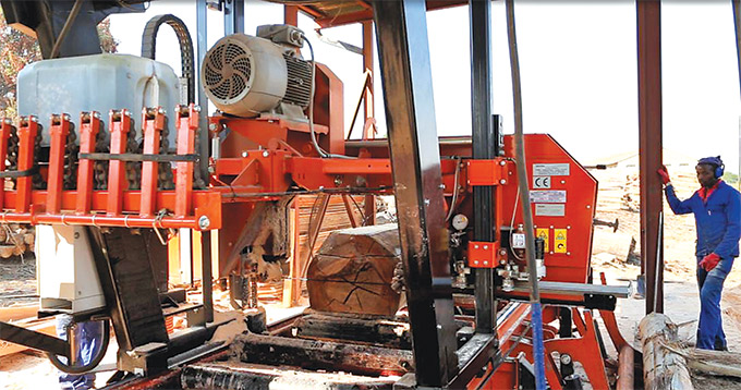 Wood-Mizer LX450 twin rail sawmill boosts productivity - SA