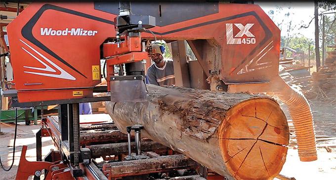 Wood-Mizer LX450 twin rail sawmill boosts productivity - SA Forestry